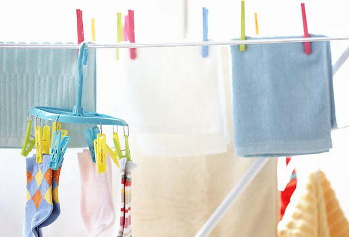 クリーニングをしてきれいになった洗濯物